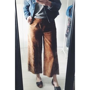 Newport News Suede Leather Culottes